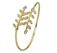 Rhinestone Leaf Shape Adjustable Bracelets