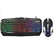 2400Dpi Wired USB Game Keyboard & Mouse For Desktop/Laptop  With LED
