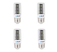 7W E14 G9 GU10 B22 E26/E27 LED лампы типа Корн B 64 SMD 5733 600 lm Тёплый белый Холодный белый Декоративная AC 220-240 V 4 шт.