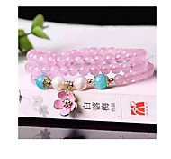 Strand Bracelets 1pc,Pink Bracelet Vintage Circle 514 Crystal Jewellery Christmas Gifts