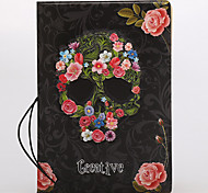 Flowers Skull Style Passport Holder