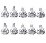 3W GU5.3(MR16) Focos LED MR16 1 COB 380LM lm Blanco Cálido / Blanco Fresco Regulable / Decorativa AC 12 / AC 110-130 V 10 piezas
