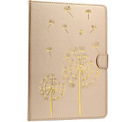 The New Color Embossed Dandelion PU Leather Case Cover for iPad Air 2/iPad 6