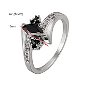 Black AAA Zircon Fine Statement Ring for Wedding Party