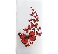 Para Funda Sony / Xperia XA Diseños Funda Cubierta Trasera Funda Mariposa Suave TPU Sony Sony Xperia XA / Sony Xperia E5
