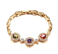 18K Gold Bracelet Fashion Marriage Jewelry Gift Boxes