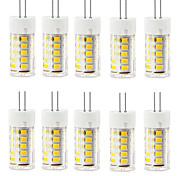 6W G4 2-pins LED-lampen T 33 SMD 2835 400-500 lm Warm wit / Koel wit Decoratief / Waterbestendig AC 220-240 V 10 stuks