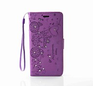 EFORCASE Carriage Embossed Diamond Lanyard PU Phone Case for Galaxy J5(2016) J3(2016) J3