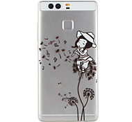 Girl Pattern Material TPU Phone Case For Huawei P9 P9 Lite