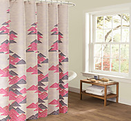 70x72inch Elegant Style  Design Waterproof Bathroom Fabric Shower Curtain