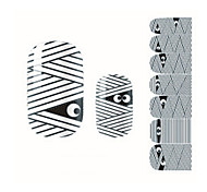 Fashion Halloween Lovely Mummy Nail Decal Art Sticker Gel Polish Manicure Beautiful Girl