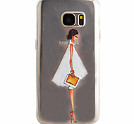 Skirt Girl Pattern Material TPU Phone Case For Samsung Galaxy S7 S7 edge