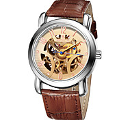 SKONE® Waterproof Automatic Mechanical Watches Men TOP Luxury Genuine Leather Strap Casual Watch Skeleton Watch