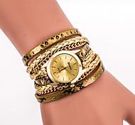 Женские Наручные часы Часы-браслет Цветной Кварцевый PU Группа Винтаж Леопард Богемные Cool ПовседневнаяЧерный Белый Синий Серебристый