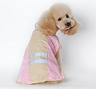 Cat Dog Rain Coat Dog Clothes Winter Spring/Fall Solid Waterproof Blue Pink