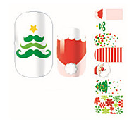 Fashion Christmas Tree Santa Claus Nail Decal Art Sticker Gel Polish Manicure Beautiful Girl