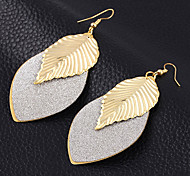 High Quality Beautiful Women's Retro Boho Gold Plated Alloy Leave Hook Dangle Earrings For Party