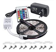 ip65 RGB-LED-Streifen 5m 300 3528 flexible Lichtband Partydekoration Lampen DC12v 3a Netzteil IR-Fernbedienung