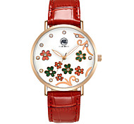 AIBI® Women's Watch Imitation Diamond Water Resistant/Water Proof Dress Watch Red Flower Designer Wrist Watch For Women With Watch Box