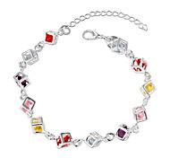 Bracelet Chain Bracelet Zircon / Copper Circle Fashion