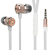 ESONG Q9 In-Ear Earphone Diamond Heavy bass Surround sound Metal headphone with Microphone for iPhone