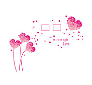 Wall Stickers Wall Decals Style Pink Love Grass Dandelion Photo Frame PVC Wall Stickers