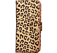 KARZEA Leopard Print Pattern TPU and PU Leather Case with Stand for Apple iPhone7/iPhone 7 Plus