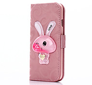 Flowing Quicksand Liquid Rabbit Pattern PU leather Case For Apple iPhone 6s 6 Plus SE 5s 5