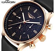 Men's Dress Watch Fashion Watch Wrist watch Quartz Japanese Quartz Calendar Water Resistant / Water Proof Moon Phase Luminous Leather Band