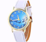 Mulheres Relógio de Moda / Relógio de Pulso Quartz / Digital Colorido PU Banda Vintage / Doce / Pendente / Legal / Casual Preta / Branco