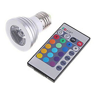 3W High Power And High Brightness RGB Lamp Color Infrared Remote Control Dimming LED Lighting(AC 85-265V)