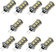 3W G4 Luci LED Bi-pin T 18 SMD 5050 200-300 lm Bianco caldo / Luce fredda Decorativo DC 12 V 10 pezzi
