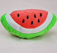 Cat / Dog Toy Pet Toys Plush Toy Squeak / Squeaking / Fruit Plush Red