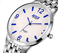BOSCK® Men's Analog Quartz 30M Water Ressistant Silver Steel Band Wrist Dress Watch