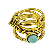 Vintage Style Imitation Turquoise New Design Finger Ring