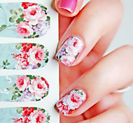 12Pcs Nail Art Water Decals Transfer Stickers Chic Bloomy Floral Pattern C6-001