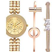 Femme Montre Bracelet Quartz / Alliage Bande Bracelet Doré Marque
