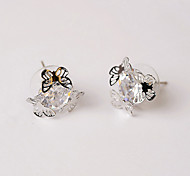 EarringJewelry Sexy / Fashionable / Personality / Adorable Crystal/ Silver Plated Gold / SilverWedding / Party / Daily /