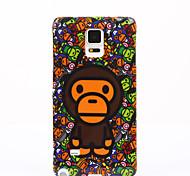 volta padrão de cobertura macaco bonito TPU tampa da caixa macia para Samsung Galaxy Note 7 nota 5 nota 4 nota 3