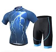 XINTOWN Cycling Jersey Set Outdoor Men Team Sportswear Bike Clothing Bicycle Shorts Blue S-XXXL
