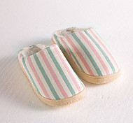 Modern/Contemporary Pink Stripped Slide Slippers Women's Slippers