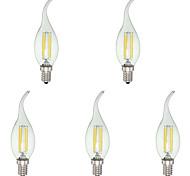 4 E12 Luci LED a candela C35 4 COB 380 lm Luce fredda Intensità regolabile AC 110-130 V 5 pezzi