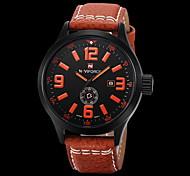 Masculino Relógio de Moda Quartz / Digital / Couro Banda Casual Preta marca