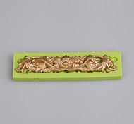 Европейский тип стиль 3d силиконовая лента форма торт выпечка силиконовая форма кухонные инструменты цвет произвольный