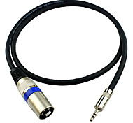 JSJ® 3.5mm Stereo Male to 3-Pin XLR Male Microphone Audio Cable (OD6.0mm 2m/6.5FT)