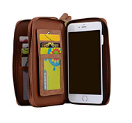 IPhone7 7Plus 6 6s 6plus Genuine Leather Cover Multi-functional Cards Holder Wallet Case