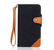 Cowboy Denim Color Wallet Hand Rope Combined Separation Stents Case For Iphone7 IPhone7 Plus