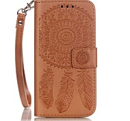 Dream Catcher  Pattern Embossing Material PU Card Holder Leather for  iPhone 7 7 Plus 6s 6 Plus SE 5s 5