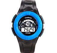 Coolboss Men/Kid's Black Silicone Band Digital Calendar Noctilucent Sports Watch