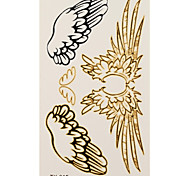 1 Tatuajes Adhesivos Series de Joya angel wings flash de tatuaje Los tatuajes temporales